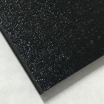 """ABS Black Plastic Sheet 1/4"""" x 8"""" x 12"""" Textured 1 Side Vacuum Forming"""