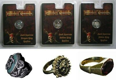 Pirates of the Caribbean Jack Sparrow BUTTON DRAGON STOLEN Rings Master Replica
