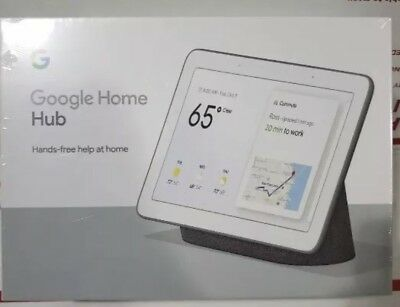 Google Home Hub Ga00516-Us (Charcoal) With Google Assistant New Sealed