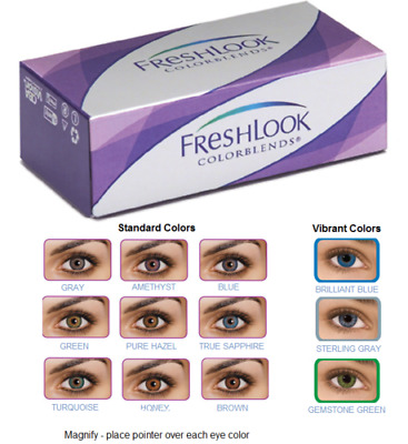 Vibrant Eye Color Lenses Make Up Colorblends Contacts Cosmetic Free Shipping