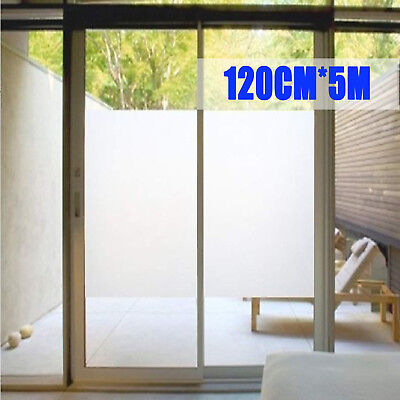 Sand Blast Clear Privacy Frosted Frosting Removable Window Glass Film 120cm*5m