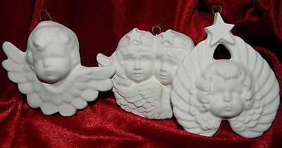 Ready to Paint Xmas Decorations Cherub Angels x 6