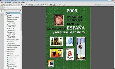 catalog stamps Spain Local stamps colonies telegraph 1850-2008  in P.D.F