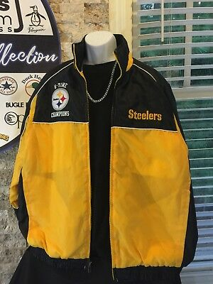 best loved b9c22 deeed VINTAGE PITTSBURGH STEELERS 6 Time Super Bowl Championship Jacket