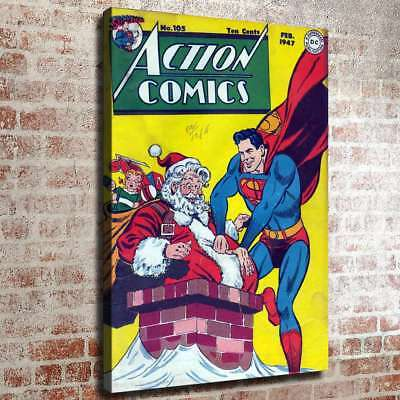 """12""""x16"""" Superman HD Canvas prints Painting Home Decor Picture Room Wall art"""