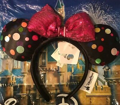 Disney Parks Minnie Mouse Ears Headband Rock The Dots 2019 NEW In Hand