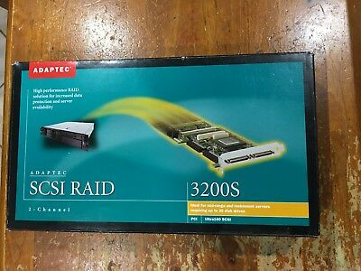 Adaptec ASR 3200S 2 Channel LVD Ultra160 U160 SCSI RAID Card + Cache & Battery