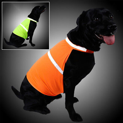 Dog Clothes Pet Fluorescent Color With Reflective Jacket