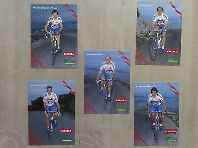 set of 11 cards Carrera Tassoni rookie MARCO PANTANI,Stephen Roche,Chiappucci
