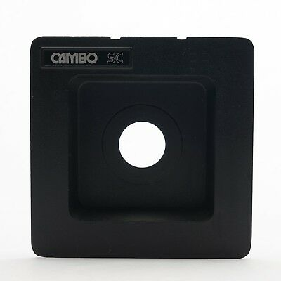 Cambo SC Monorail recessed lens board, compur or copal #0 34.5mmm hole 5x4 30mm