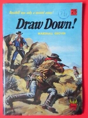 Draw Down By Marshall Grover Pb Book 1St 1960 Phoenix Westerns Cowboys