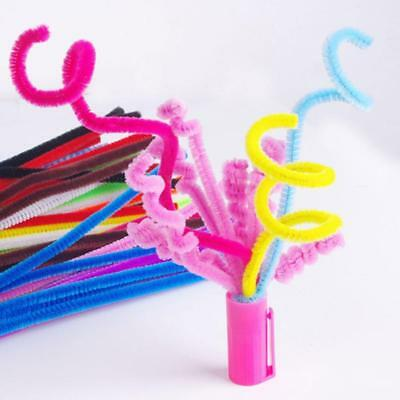100 Pipe Chenille Sticks Cleaners Stems Assorted Crafts Plain Colours 6mm x 30cm