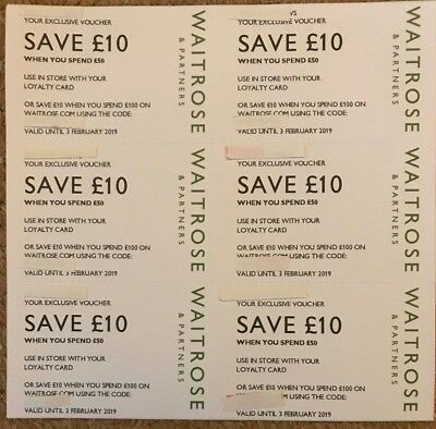 Waitrose Money Off Vouchers Coupons £60