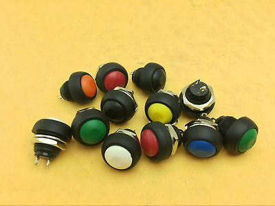 Waterproof Momentary ON/OFF Push Button Round SPST Switch M4 12mm 1-1000pc color