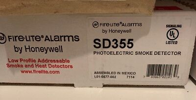 NEW *FireLite Alarms* by Honeywell SD355 Photoelectric Smoke Detector