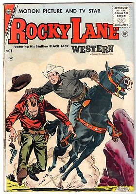 Rocky Lane Western #74, Very Good Condition