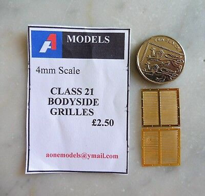 4mm Scale Class 21 Bodyside Grillles