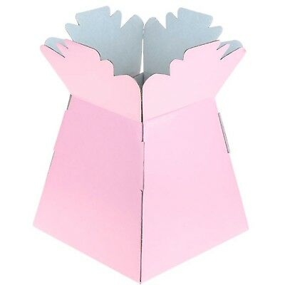 Pale Pink - Living Vases Florist Bouquet Box Flower Plant Aqua Sweet Gift Boxes