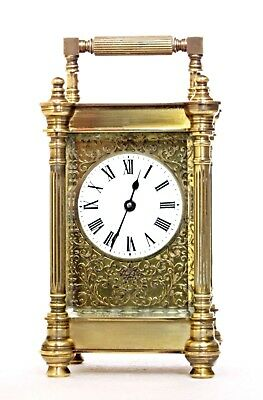 Antique Charles Frodsham Carriage Clock, Serviced & Working Well, Filigree Mask