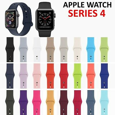 8 Pack Replacement Silicone Sport Band Strap for Apple Watch Series 4 3 2 1