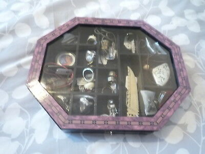 Miniature Display Cabinet With Over 20 Items