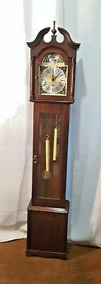 Mahogany 1970s Westminster chime longcase Grandmother Clock