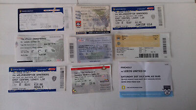 Leeds United Tickets Stubs X 9 ***preston/wolves/palace/man City/reading***