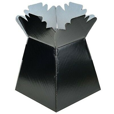 Black - Living Vases Florist Bouquet Box Flower Plant Aqua Sweet Gift Boxes