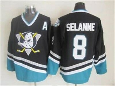 NWT Teemu Selanne Anaheim Mighty Ducks NHL Jersey Vintage Throwback M L XL XXL