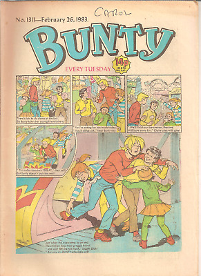 BUNTY No.1311,FEB.26,1983 D.C.THOMSON PUBLICATION with BUNTY'S CUT-OUT WARDROBE