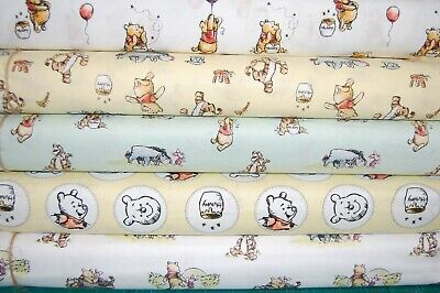 Classic Winnie the Pooh & Friends - Eeyore Piglet Tigger 100% Cotton Fabric FQ/M