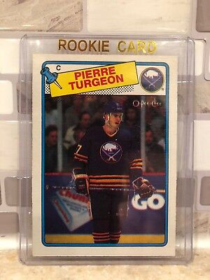 1988-89 O-Pee-Chee Pierre Turgeon Rookie Card Free Shipping OPC RC