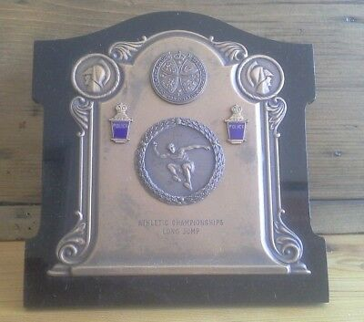 vintage silver plate Police trophy plaque, police, trophy, silver, athletics