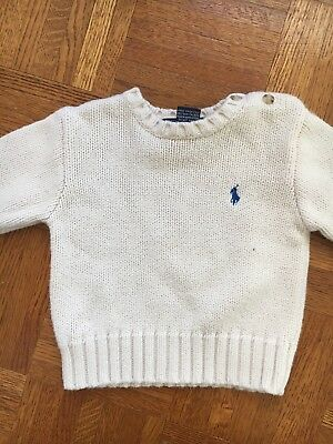 Polo Ralph Lauren Ivory Cotton Sweater 18M