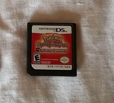 Pokemon Mystery Dungeon: Explorers of Darkness (Nintendo DS, 2008) Authentic