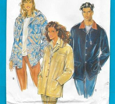 Unisex Jacket 3 STYLES Hood Option Small-XXL NEW LOOK 6288 Pattern