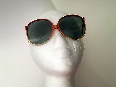 eb5adb92fa VTG FOSTER GRANT Oversized Funky Looking Ladies Sunglasses Italy Used Flaws  80s
