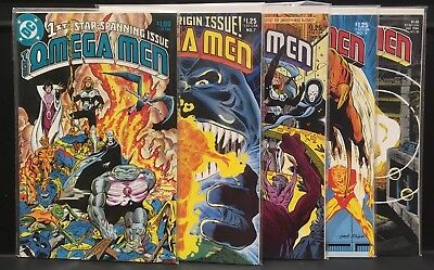 Lot Of 5 BOOKS Omega Men DC Comics #1, 7, 8, 9, 10, VF / NM Bronze Age
