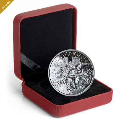 2019 .9999 Proof Silver Dollar - The 75th Anniversary of D-Day No. 170515