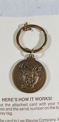 Vintage Logo John Deere Limited Edition Registered Key Ring Tag Fob Chain JD