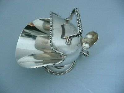 Vintage Silver Plated Sugar Scuttle & Scoop With Engraving