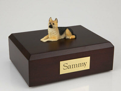 German Shepherd Pet Funeral Cremation Urn Avail in 3 Different Colors & 4 Sizes