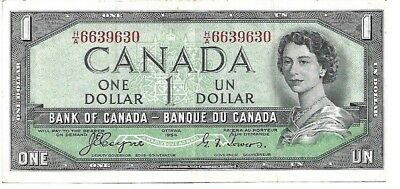 1954  Canada Canadian 1 $ Dollar - Devil's Face Note