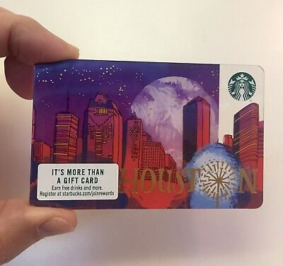 Starbucks New Houston Texas City Gift Card Mint, Rare, Very Hard To Find