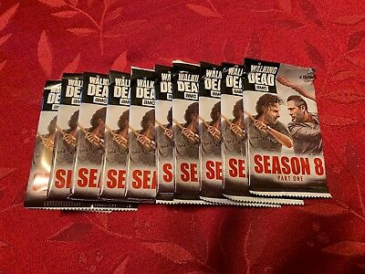 2018 The Walking Dead Season 8 Lot of 10 Unopened Packs of Topps Trading Cards