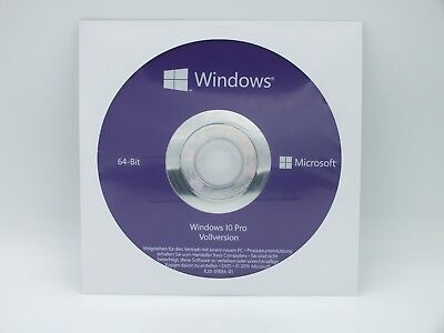 Windows 10 Professional  64 Bit ,DVD,Deutsch Vollversion 100 % Online