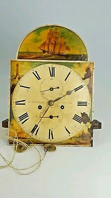 Antique 8 Day Longcase Movement And Dial Maker J.Howden & Co Edinburgh
