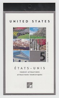 CANADA BOOKLET BK243b 5 x 60c TOURISTS ATTRACTIONS, OPEN COVER WITH TI