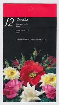 CANADA BOOKLET BK245b 12 x 47c CANADIAN ROSES , OPEN COVER WITH TI