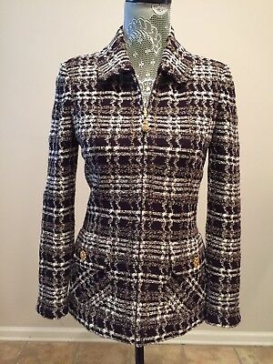 ST.JOHN Collection by Marie Gray - Vintage Knit Navy-multi, Size 4 - USA - EUC